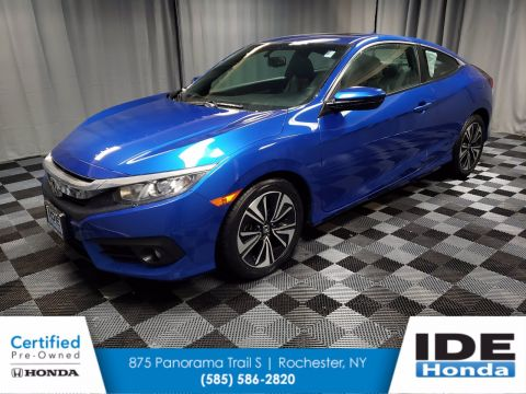 Certified Pre-Owned 2017 Honda Civic Coupe EX-L CVT FWD 2dr Car